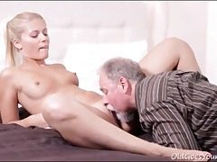 old young,pussy eating,small tits