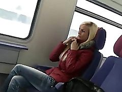 cute german lady romp on public transport