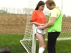 Fledgling teen lesbian fucky-fucky and red bikini teen Dutch football