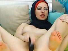 Glamorous Arabic Teenager Toying