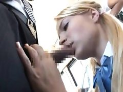 Girl give BBJ & got fucked to numerous orgasm on bus