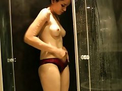 Natural Tits Indian Girl Jasmine Taking Douche