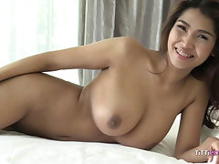 big-boobed japanese girl let's foreigner fuck her raw