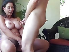 Spunk everywhere on mature MILF