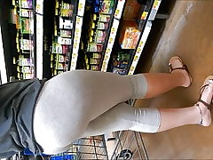 Pawg Culo In Light Gray Pantyhose