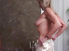 Blonde Grandmother assfucking fucked by a black fat cook