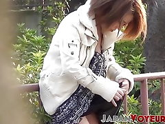 Stylish Japan babes titty teasing all around the city