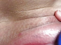Close up clit plaything