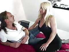 German Mommy Fuck Step Bro and Step on in Family Story