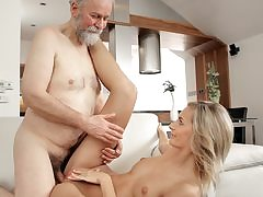 Mature guy pummels gorgeous wifey in elderly and youthful movie