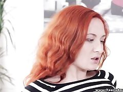 Red-haired luvs very first-time assfucking