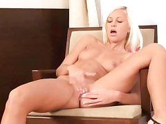 Young light-haired undressing and fapping