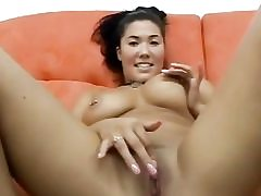 Plump asian luvs sucking lengthy knobs