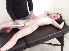 Younger bitch slut gets tickled in restrain bondage